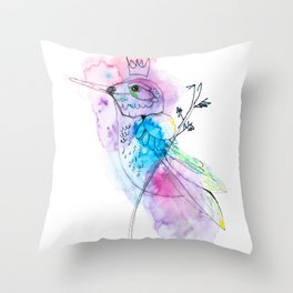 Hummingbird by Miss C Throw Pillow