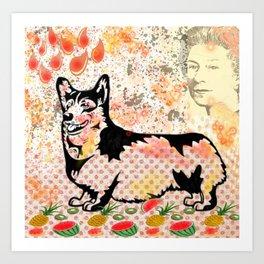 Corgi pop art Art Print