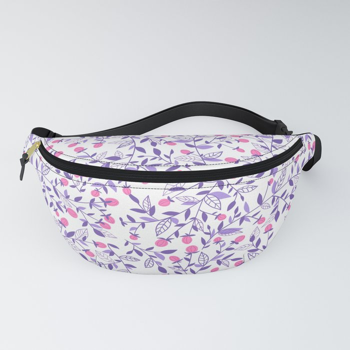Floral doodles pink and violet Fanny Pack