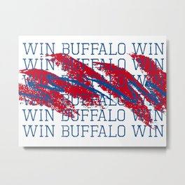 WIN BFLO FOOTBALL Metal Print