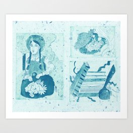 Anne of Green Gables Blue Art Print