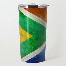 National flag of the Republic of South Africa - Banner version Travel Mug