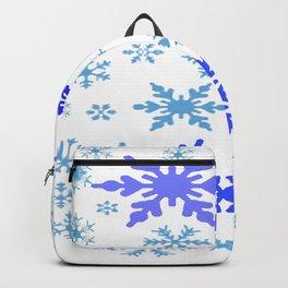 BLUE & PURPLE WINTER SNOWFLAKES  DESIGN Backpack