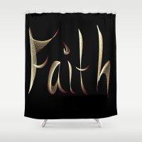 faith Shower Curtains featuring Faith by Tina Vaughn