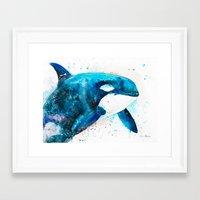 orca Framed Art Prints featuring Orca  by Slaveika Aladjova