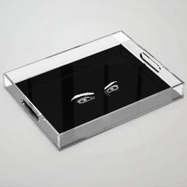 Heart Eyes Acrylic Tray