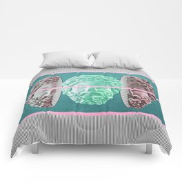 am a green soul in a pinky packaging Comforters