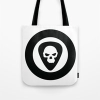 punk rock Tote Bags featuring Punk, Rock & Ska by Howiesgraphics