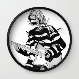 The Ghost of Cobain Wall Clock