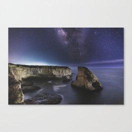 Milky Way over Shark Fin Cove Canvas Print