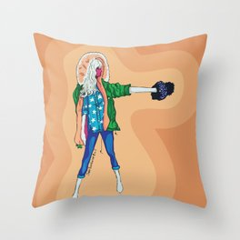 Fashion Model Throw Pillow