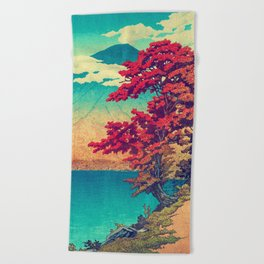 The New Year in Hisseii Beach Towel