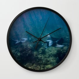 Mantas ready to high-five Wall Clock