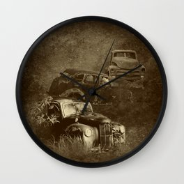 Cars in the jungle Wall Clock