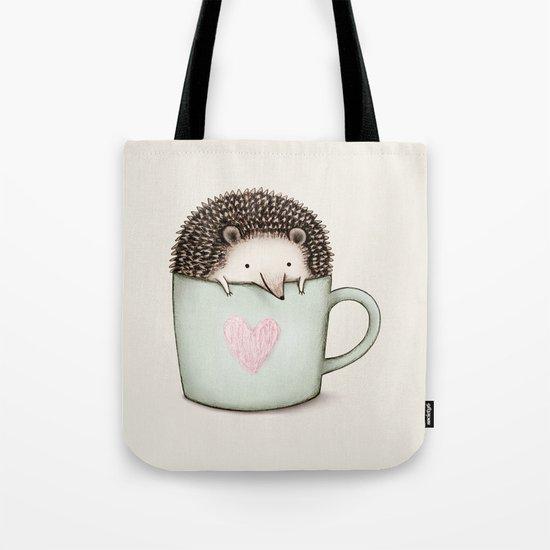 Hedgehog in a Mug Tote Bag