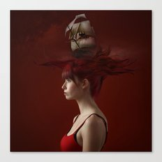 Sailing - Red Canvas Print