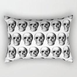 Grinning Skull Anatomical Illustration Rectangular Pillow