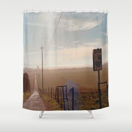 Tsunami Warning Zone-Film Camera Shower Curtain