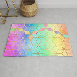 Rainbow Cubes Rug