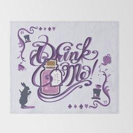 Alice In Wonderland Drink Me Throw Blanket