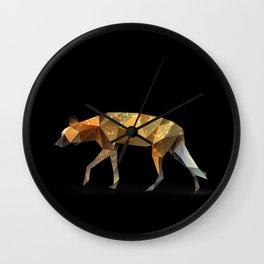 Wild African Dog. Wall Clock