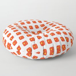Flag of China - with soft square Floor Pillow