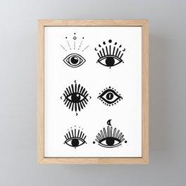 Midnight Mystic eyes Framed Mini Art Print