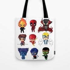 Chibi Heroes Set 2 Tote Bag