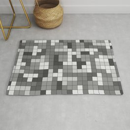 Tetris Camouflage Urban Rug