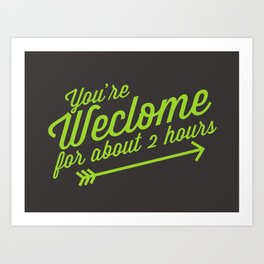 Welcome Mat Art Print