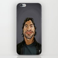 celebrity iPhone & iPod Skins featuring Celebrity Sunday ~ Javier Bardem by rob art | illustration
