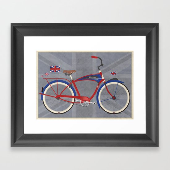 British Bicycle Framed Art Print