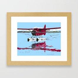 Otter on Beluga Framed Art Print