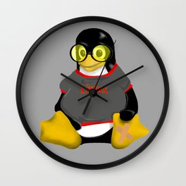 Linux sunglasses Wall Clock