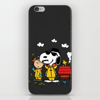 peanuts iPhone & iPod Skins featuring Breaking Peanuts by Maioriz Home