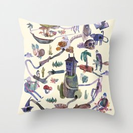 The Map Throw Pillow