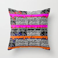 data Throw Pillows featuring DATA by lucborell