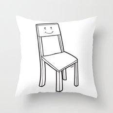chair boy Throw Pillow