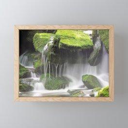 Green Moss Waterfall Framed Mini Art Print