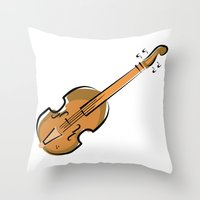 violin Throw Pillows featuring Violin by shopaholic chick