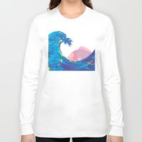 hokusai Long Sleeve T-shirts featuring Hokusai Rainbow & Jpanese Snapper  by FACTORIE