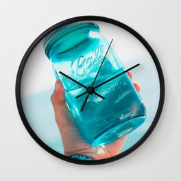 Glass Jars Wall Clock