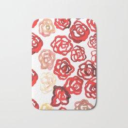 Field of Roses Bath Mat