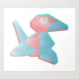 Virtual Porygon Art Print