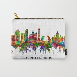 St. Petersburg Russia Skyline Carry-All Pouch