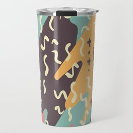 Squiggle Seamless Background Travel Mug