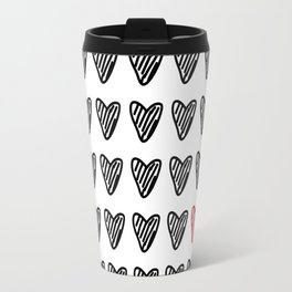 HEARTS ALL OVER PATTERN I Travel Mug