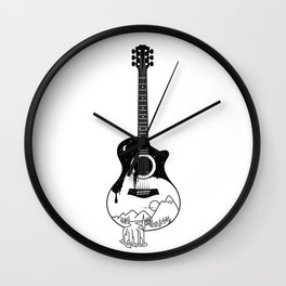 The intriguing sounds of nature Wall Clock