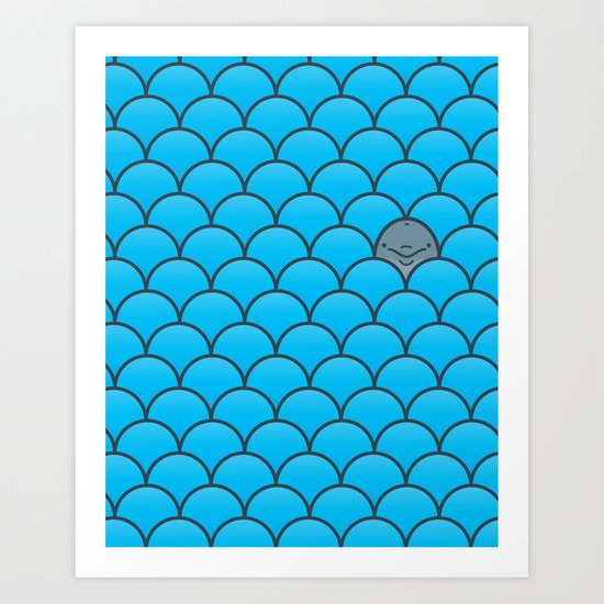The Last Dolphin Art Print