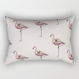 Flamingo and French Bulldog Rectangular Pillow